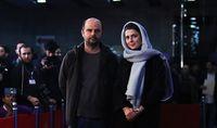 لیلا حاتمی کنار علی مصفا روی فرش قرمز جشنواره +فرش