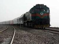 بازگشایی خط آهن اهواز پس از خروج قطار از ریل