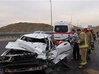 11زخمی بر اثر تصادف مینی بوس با پراید