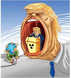 جهان طرف ایران را میگیرد یا ترامپ؟ (کاریکاتور)