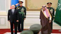 اجرای ناهماهنگ سرود ملی روسیه توسط سعودیها و چهره پوتین +فیلم