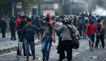 ناآرامیهای بعد از انتخابات در اندونزی +تصاویر