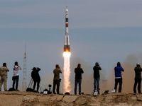لحظه پرتاب فضاپیمای سایوز روسی به پایگاهفضایی بینالمللی +عکس