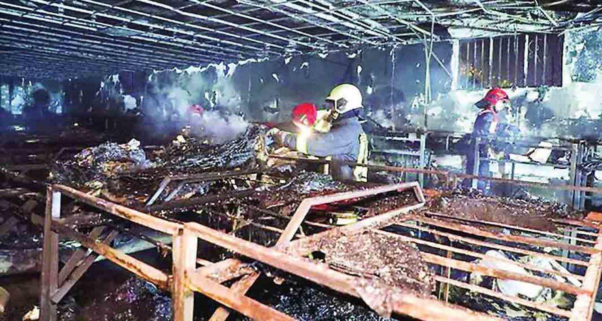 آتش سوزی مرگبار در کمپ ترک اعتیاد