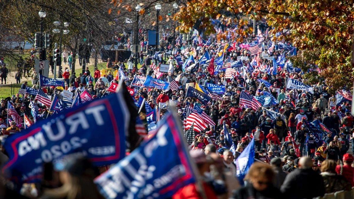 تظاهرات طرفداران ترامپ در واشنگتن