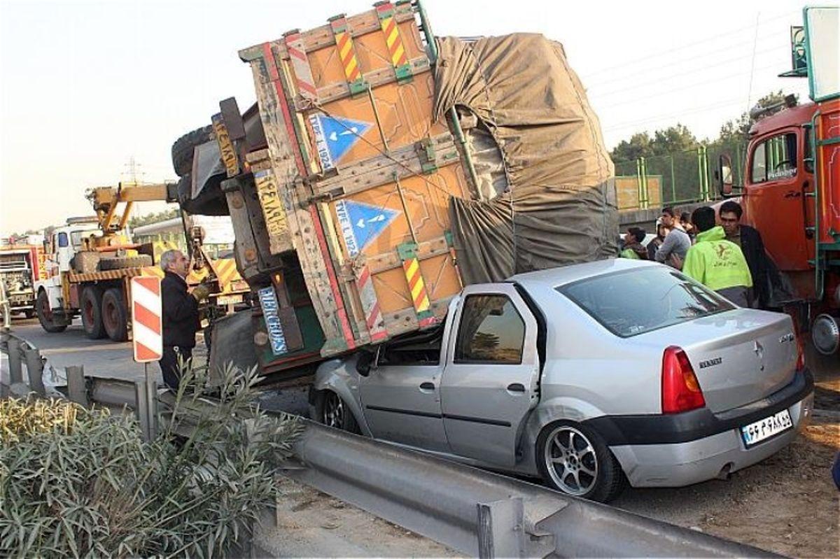 تصادف هولناک در جاده ایلام به مهران +عکس