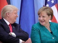 ترامپ: با مرکل درباره ایران گفتوگو میکنم