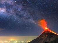 همراهی کهکشان راه شیری با گدازههای آتشفشان فوئگو