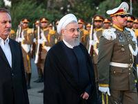 بدرقه رسمی روحانی توسط جهانگیری +تصاویر