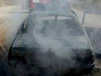 حریق یک دستگاه خودرو 405