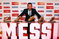 لیونل مسی و پنجمین کفش طلای اروپا +تصاویر