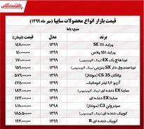 قیمت روز محصولات سایپا +جدول
