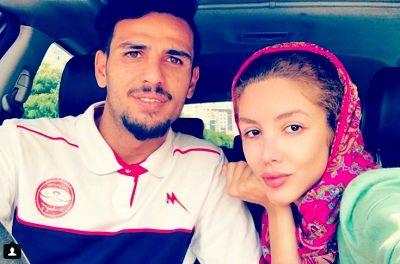 سلفی خانم بازیگر با همسر فوتبالیستاش +عکس