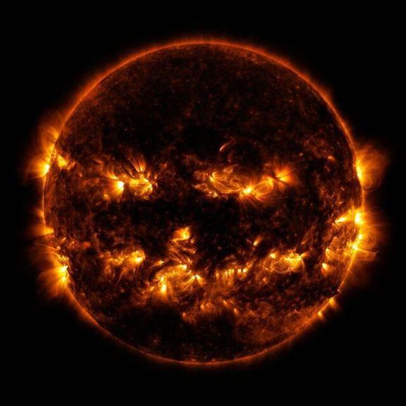 ظاهر ترسناک خورشید به مناسب جشن هالووین