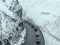 بارش برف در ارتفاعات محور هراز