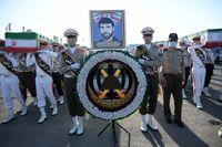 استقبال از پیکر شهدای نیروی دریایی در تهران +تصاویر