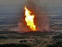 حادثه آتش سوزی خط لوله در اهواز +فیلم