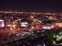 ورود پیکر سیدالشهدای مقاومت به تجمع مردم قم