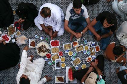 نجف به وقت افطار +تصاویر