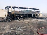 7کشته حاصل تصادف پژو حامل سوخت با اتوبوس +عکس