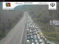 ترافیک در محور آمل-تهران، محدوده پارک جنگلی +عکس