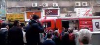 آتشسوزی در خیابان سپهسالار تهران +فیلم