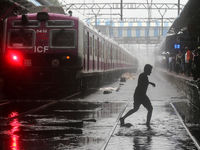 افزایش بارانهای موسمی در هند +تصاویر