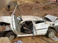 واژگونی پراید ۲کشته و ۳مجروح برجای گذاشت