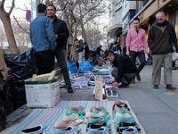 افزایش۵۰ درصدی دستفروشی در تهران نسبت به سال۹۴