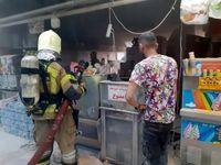 آتشسوزی در مجتمع تجاری بوستان تهران +فیلم