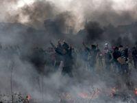 درگیری پلیس با پناهجویان در یونان +تصاویر