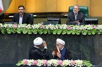 خوش و بش برادران لاریجانی در مراسم تحلیف +عکس