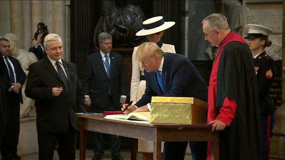 حسرت بازدید از پارلمان انگلیس بر دل ترامپ ماند