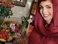 سفره هفت سین خانم بازیگر در لندن +عکس