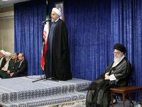 رییس جمهور و مسئولان نظام در دیدار با رهبر انقلاب +تصاویر