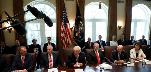 جنجال اولین جلسه کابینه ترامپ +تصاویر