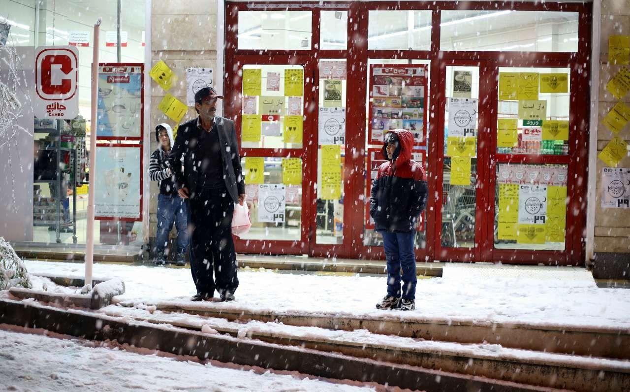 بارش برف در سنندج