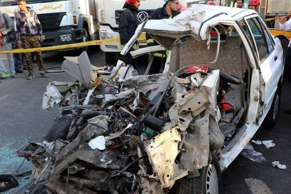 تهران رکورددار تصادف در کشور است