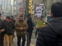 فرزند مقام معظم رهبری در مراسم راهپیمایی ۲۲ بهمن +عکس و فیلم