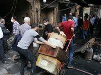 بازار تبریز پس از آتش سوزی +عکس