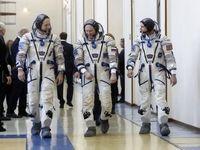 اعزام سه فضانورد به ایستگاه فضایی بینالمللی +فیلم