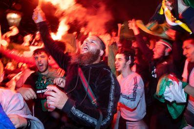 Algeria fans light up London after Afcon triumph