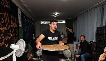 پخت حلوای 14تنی در زنجان +تصاویر