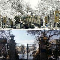 فروریختن طاق دانشگاه تهران به علت سنگینی برف +عکس