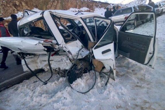 تصادف جادهای یک کشته و شش مصدوم برجای گذاشت