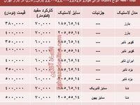 قیمت انواع لاستیک ایرانی پژو در بازار +جدول