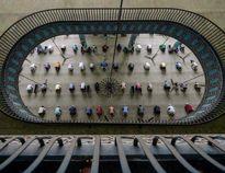 نماز جماعت در مسجد بیتالمکارم +عکس