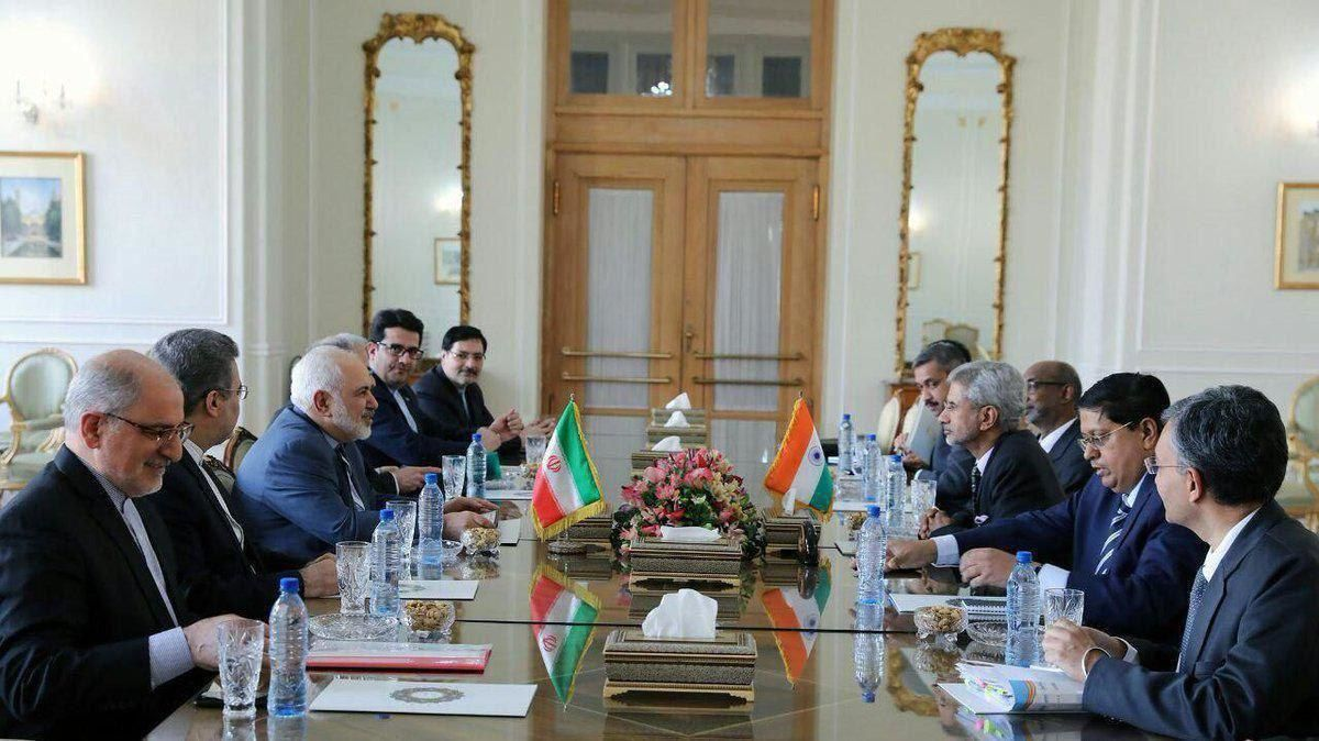 توییت ظریف پس از دیدار با وزیر خارجه هند
