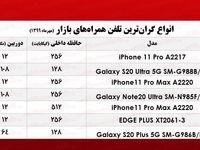 گرانترین موبایلها در بازار چند؟  +جدول