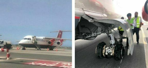 حادثه برای هواپیمای ایرانی در فرودگاه مسقط  +عکس